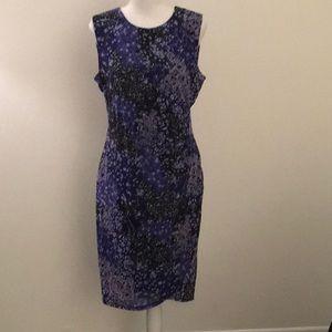 Tahari Lavender Florals Dress